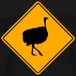 Ostrich Road Sign T-Shirts - Men's Premium T-Shirt
