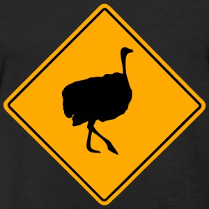 Ostrich Road Sign T-Shirts - Fitted Cotton/Poly T-Shirt by Next Level