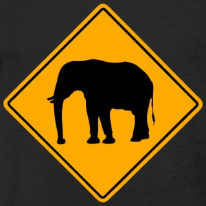 Elephant Road Sign T-Shirts - Fitted Cotton/Poly T-Shirt by Next Level