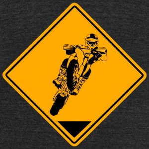 Supermoto Road Sign T-Shirts - Unisex Tri-Blend T-Shirt by American Apparel