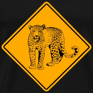 Leopard Road Sign T-Shirts - Men's Premium T-Shirt