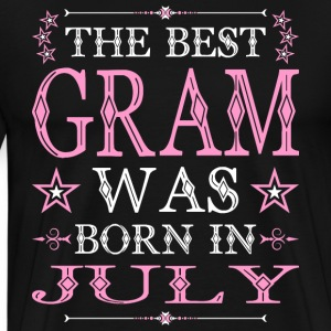 The Best Gram Was Born In July T-Shirts - Men's Premium T-Shirt