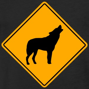 Wolf Road Sign T-Shirts - Fitted Cotton/Poly T-Shirt by Next Level