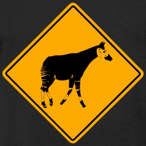 Okapi Road Sign T-Shirts - Fitted Cotton/Poly T-Shirt by Next Level