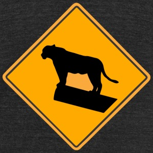 Lion Road Sign T-Shirts - Unisex Tri-Blend T-Shirt by American Apparel
