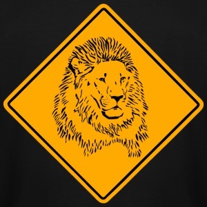 Lion Road Sign T-Shirts - Men's Tall T-Shirt