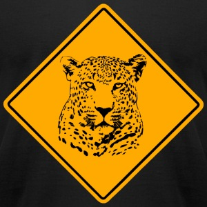 Leopard Road Sign T-Shirts - Men's T-Shirt by American Apparel