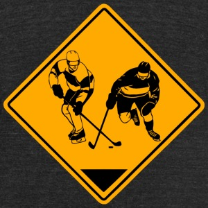 Hockey Road Sign T-Shirts - Unisex Tri-Blend T-Shirt by American Apparel