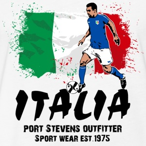 Italy Soccer T-Shirts - Fitted Cotton/Poly T-Shirt by Next Level