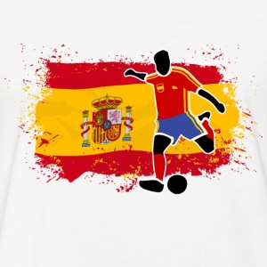 Spain Soccer T-Shirts - Fitted Cotton/Poly T-Shirt by Next Level