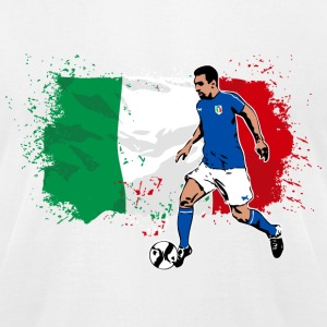 Italy Soccer T-Shirts - Men's T-Shirt by American Apparel