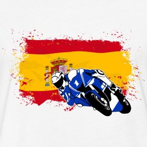 MotoGP - Superbike - Spain Flag T-Shirts - Fitted Cotton/Poly T-Shirt by Next Level