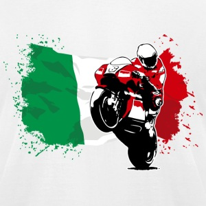 MotoGP - Superbike - Italy Flag T-Shirts - Men's T-Shirt by American Apparel