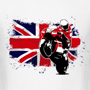 MotoGP - Superbike - UK Flag T-Shirts - Men's T-Shirt