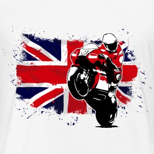 MotoGP - Superbike - UK Flag T-Shirts - Fitted Cotton/Poly T-Shirt by Next Level