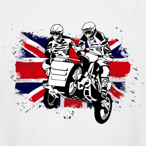 Sidecarcross - Moto Cross - UK Flag T-Shirts - Men's Tall T-Shirt