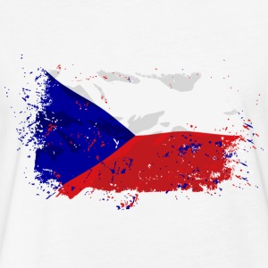 Czech Republik Flag T-Shirts - Fitted Cotton/Poly T-Shirt by Next Level