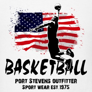 Basketball -  USA Flag T-Shirts - Men's T-Shirt