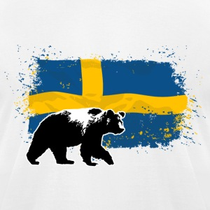 Sweden - Bear & Flag T-Shirts - Men's T-Shirt by American Apparel