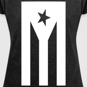 black_flag T-Shirts - Women's Roll Cuff T-Shirt