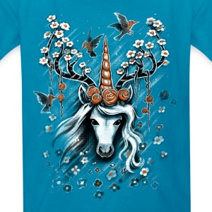 Deer Unicorn Flowers Kids' Shirts - Kids' T-Shirt