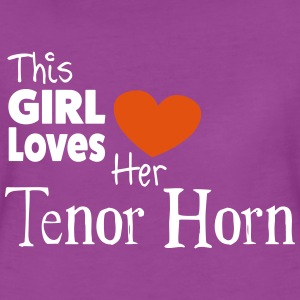 This Girl Loves Her Tenor Horn - Women's Premium T-Shirt