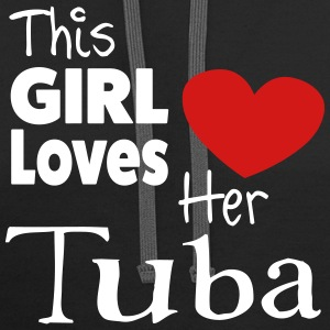 This Girl Loves Her Tuba - Contrast Hoodie