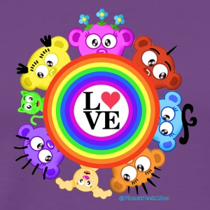 Love & Rainbows The PeekABoo Crew @PlanetPeekABoo - Men's Premium T-Shirt