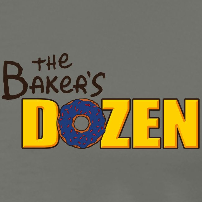 The Baker's D'OHzen Men's T-shirt (front lapel & back) (premium)