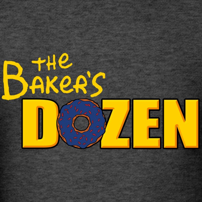 The Baker's D'OHzen Men's T-shirt (front & back)