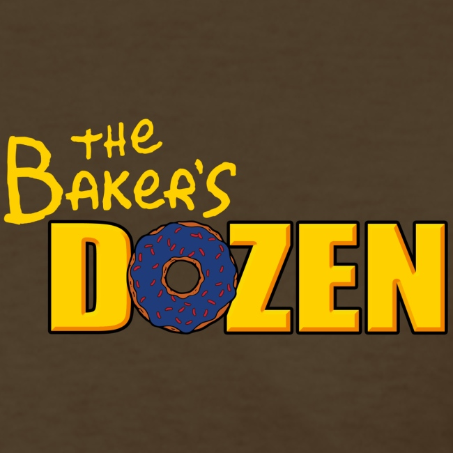 The Baker's D'OHzen Ladies' T-shirt (front lapel & back)