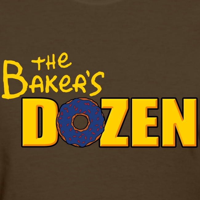 The Baker's D'OHzen Ladies' T-shirt (front & back)