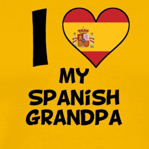I Heart My Spanish Grandpa - Men's Premium T-Shirt