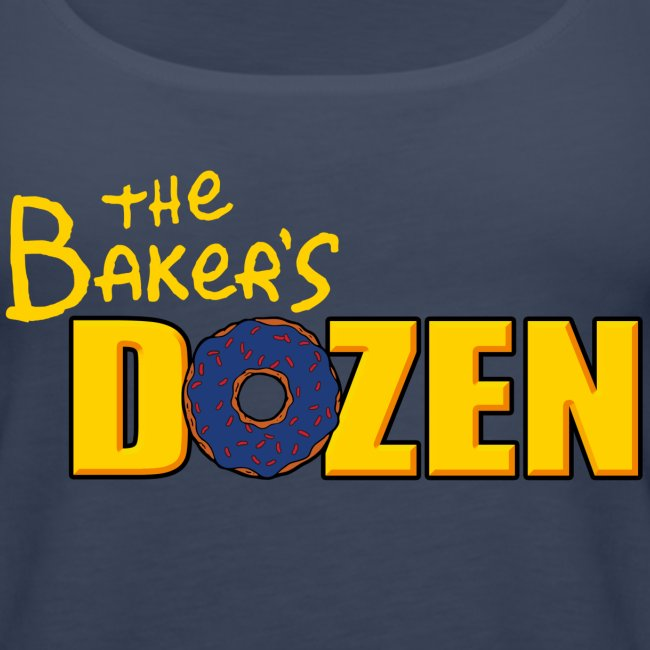 The Baker's D'OHzen Ladies' Tank Top (front & back)