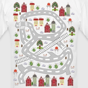French houses. Men's T-shirt. Print in back. - Men's T-Shirt