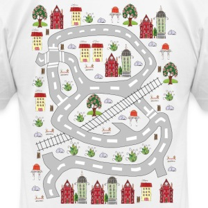 French houses. Men's T-shirt. Print in back. - Men's T-Shirt by American Apparel