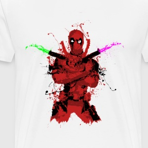 The Deadpool Splash - Men's Premium T-Shirt