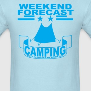 weekend_forecast_camping_with_a_chance_o - Men's T-Shirt