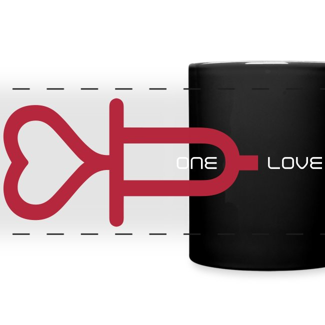 ONE LOVE - panoramic print red/white - one size
