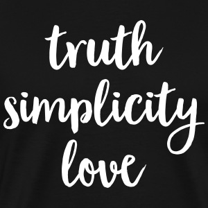 Truth Simplicity Love T-Shirts - Men's Premium T-Shirt