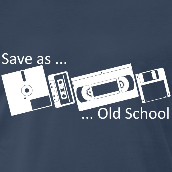 Save as ... Old School Shirt - Men's Premium T-Shirt