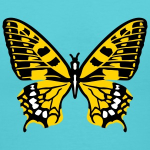 Butterfly yellow T-Shirts - Women's V-Neck T-Shirt
