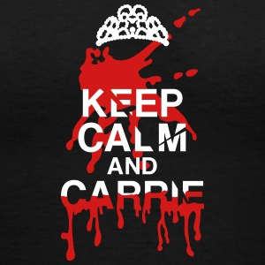 keep calm Carrie T-Shirts - Women's V-Neck T-Shirt