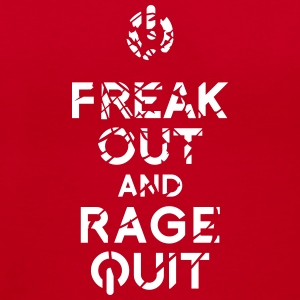 keep calm rage quit T-Shirts - Women's V-Neck T-Shirt