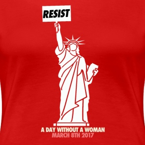 A day without a woman - red t-shirt - Women's Premium T-Shirt