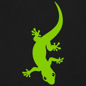 Gecko blue T-Shirts - Men's V-Neck T-Shirt by Canvas