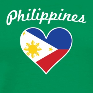 Philippines Flag Heart - Men's Premium T-Shirt