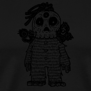 three eyes little skull and his pets - Men's Premium T-Shirt