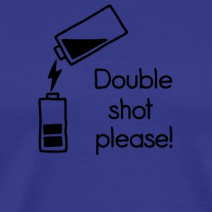 double shot - Men's Premium T-Shirt