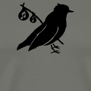 Song Bird Carrying Tunes - Men's Premium T-Shirt